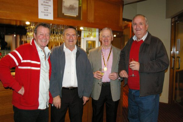 Geoff Trenerry, Alan Skinner, Doug Philipson and Alan Brown: 1975 St Mary's A Grade Premiership Reunion July 15 2011