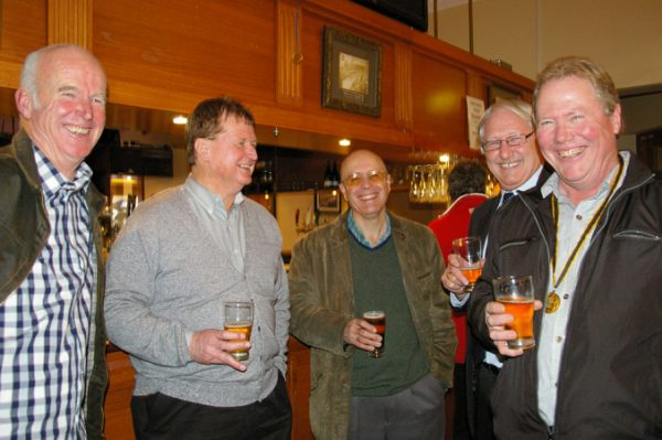Brian Brown, Rob McKenna, Russell Jones, Tony Goldsworthy and Fred Martello: 1975 St Mary's A Grade Premiership Reunion July 15 2011