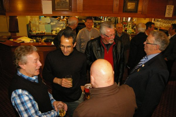 Peter Leman, Adrian Anderson, Phil Tyler and Ian Jackson: 1975 St Mary's A Grade Premiership Reunion July 15 2011