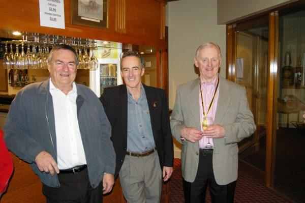 Alan Skinner, John Colliver and Doug Philipson: 1975 St Mary's A Grade Premiership Reunion July 15 2011