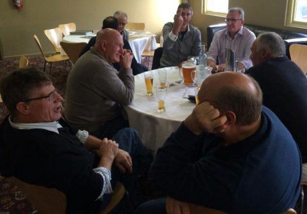 (l-r)Ivan Andric, Neil Le Lievre, Michael Allen, David Malcolm, Geoff Goldsworthy and Mark Plumridge: 1978-79-80 St Mary's Premiership Reunion August 8 2014