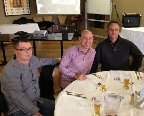 Terry Ymer and Darren Wharton: 1978-79-80 St Mary's Premiership Reunion August 8 2014