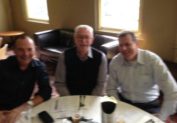 Rob Berger, Brian Thomas and Jim Bacolas: 1978-79-80 St Mary's Premiership Reunion August 8 2014