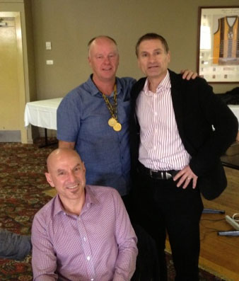 Brian Perry, Jean-Marc Salama and Terry Ymer: 1978-79-80 St Mary's Premiership Reunion August 8 2014