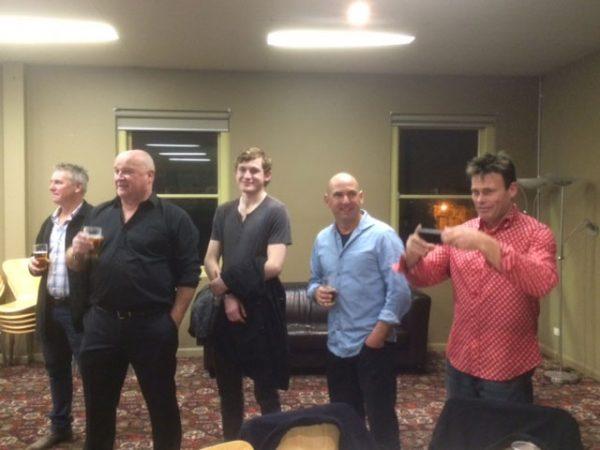 Jamie Stewart, Malcolm Jarvis, Tim Brideson, Noel Challen: St Marys 1990 Premiership Reunion 17 July 2015
