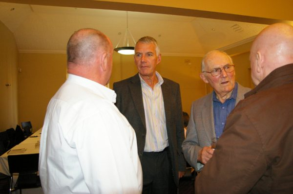 Colin Bellinger, Trevor Parks, Albert Vickery and Neil Le Lievre: 1975 St Mary's A Grade Premiership Reunion July 15 2011