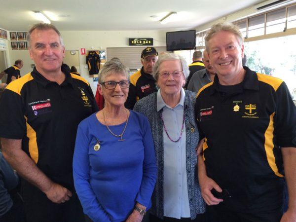 David Malcolm, Joan Malcolm, Kath Leman and Peter Leman: Gold Saints Lunch April 18 2015