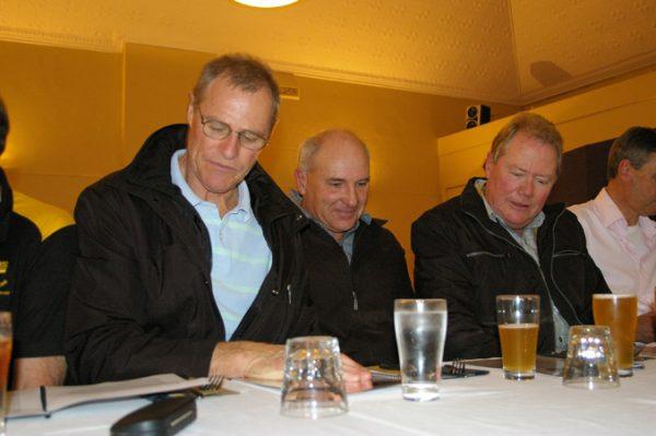 Alan Martello, John Robertson and Fred Martello: 1975 St Mary's A Grade Premiership Reunion July 15 2011