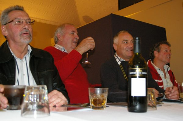 Kerry Mory, Alan Brown, Geoff Goldsworthy and Geoff Trenerry: 1975 St Mary's A Grade Premiership Reunion July 15 2011